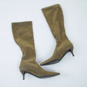 Donald Pliner Knee High Boot Leather Stretch